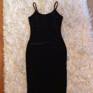 n:PHILANTHROPY black velvet midi dress